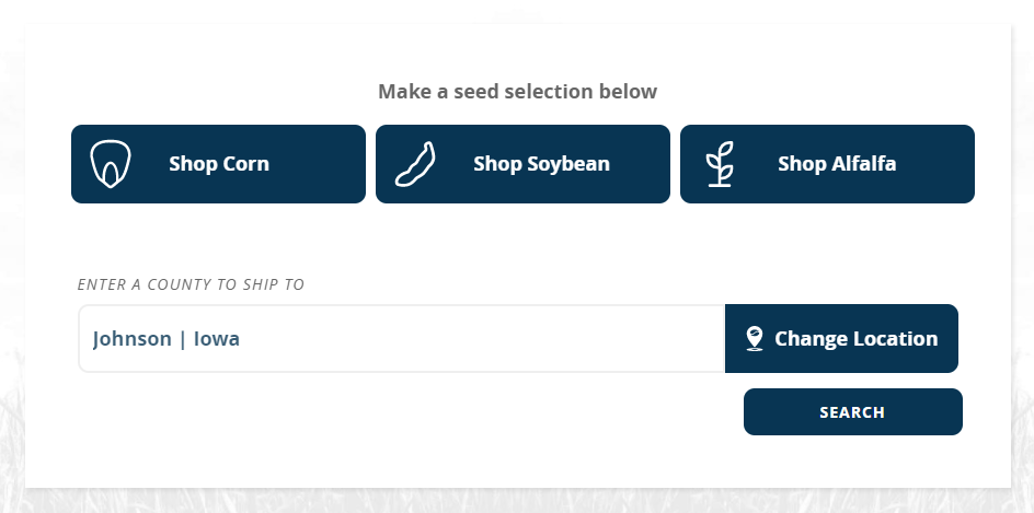 Buy Seed Online - Shop Page